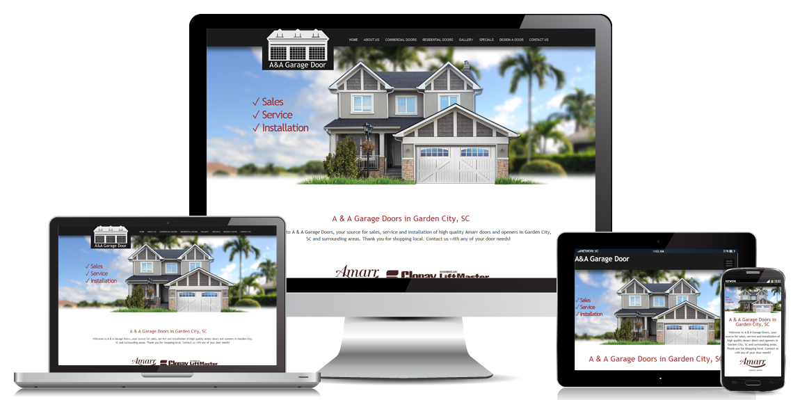 A&A Garage Door – Web Design