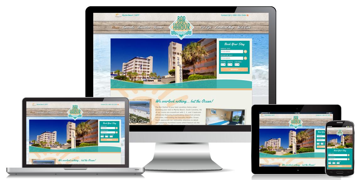Bar Harbor Resort – Web Design