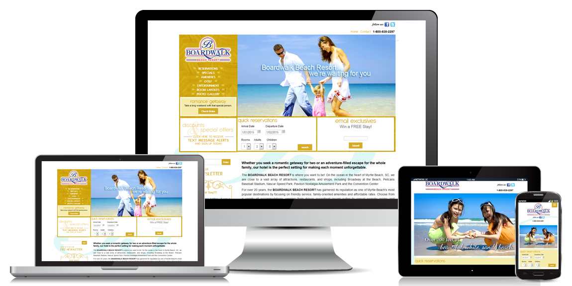 Resort - Hotel Websites designed by Marketing Provisions