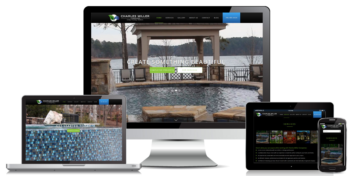 Landscape Contractor Website Design by Marketing Provisions