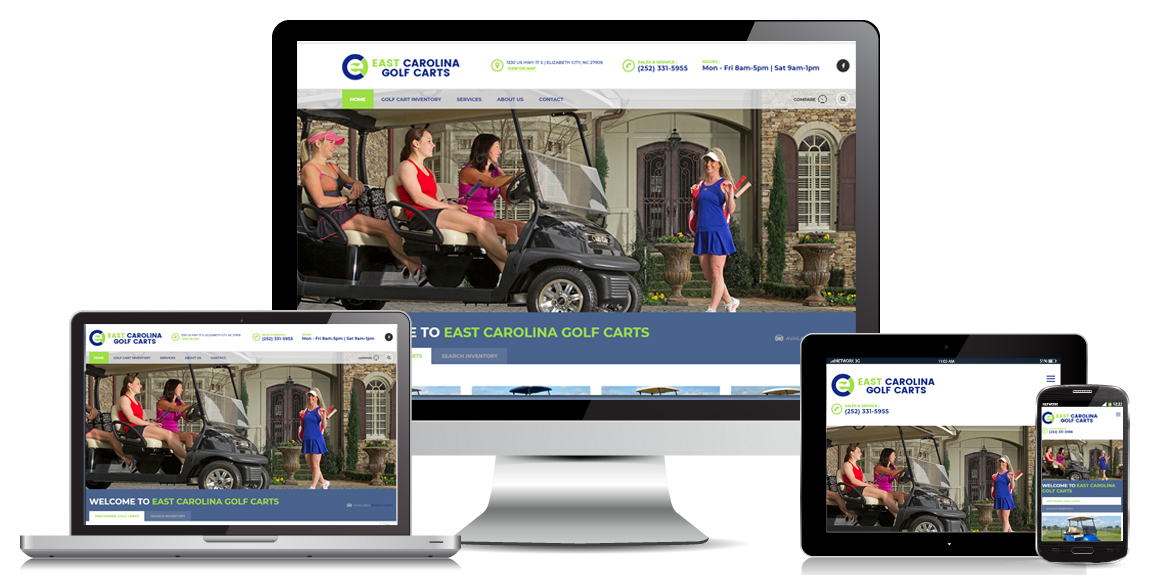 Golf Cart Website Design by Marketing Provisions