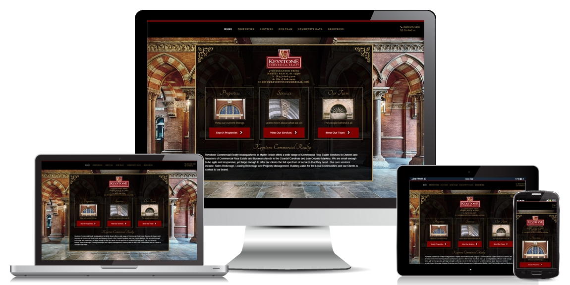 Commercial Real Estate Website Designed by Marketing Provisions
