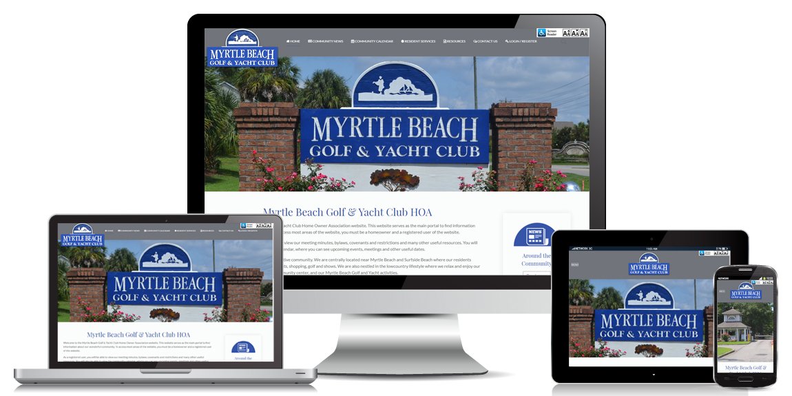 Myrtle Beach Golf and Yacht Club HOA WEB DESIGN