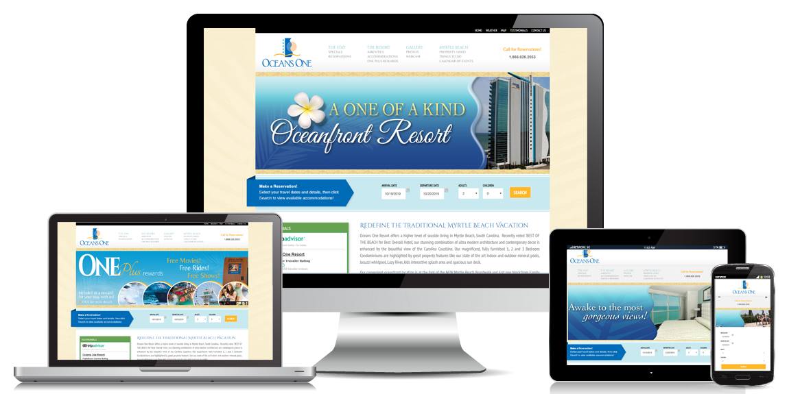 Oceans One Resort – Web Design