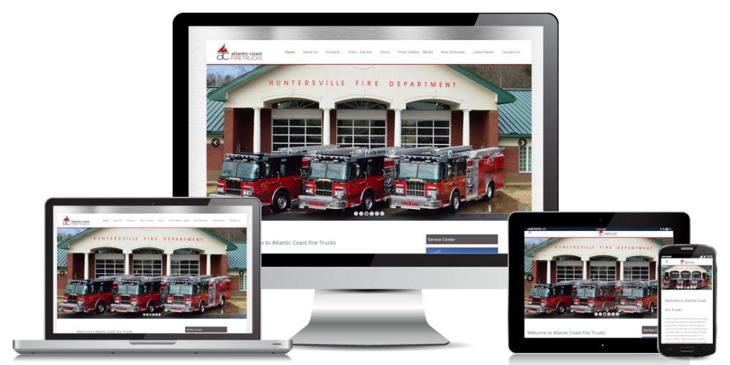 Atlantic Coast Fire Trucks - Manufacturer Web Design