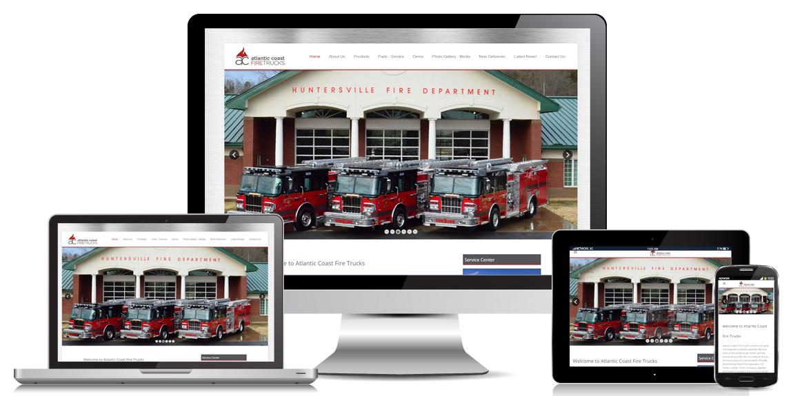 Read more about the article Atlantic Coast Fire Trucks – Manufacturer Web Design