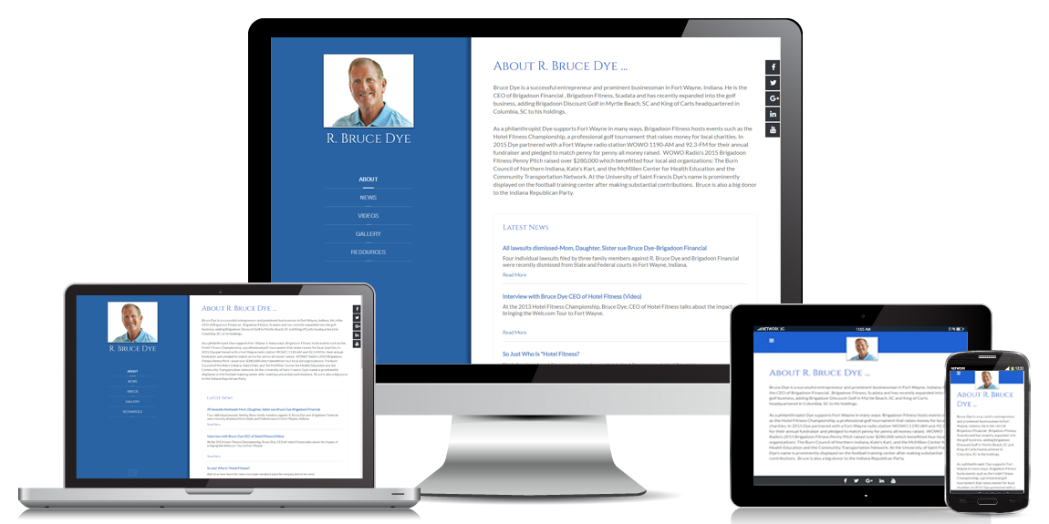 Bruce Dye - Personal Web Design