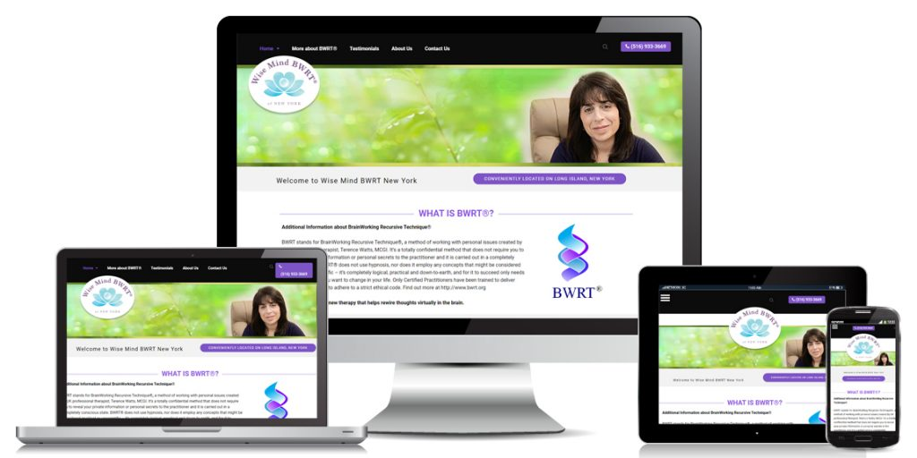 Wise Mind BWRT of New York - Health & Wellness Web Design