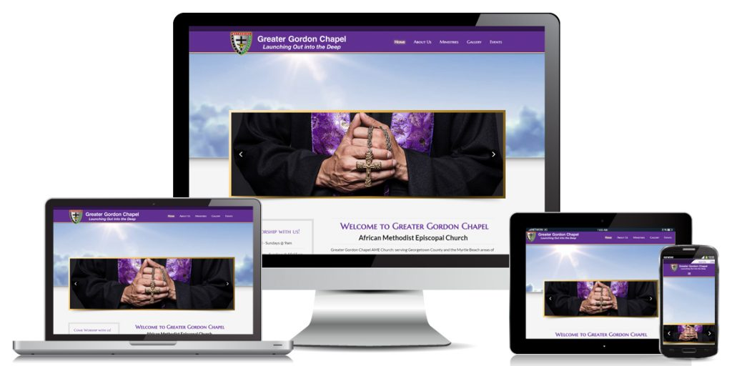 Church Website Design Greater Gordan Chapel