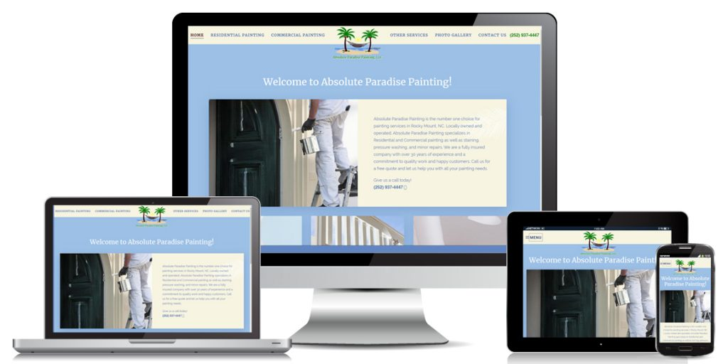 Contractor Website Design Absolute-Paradise-Painting