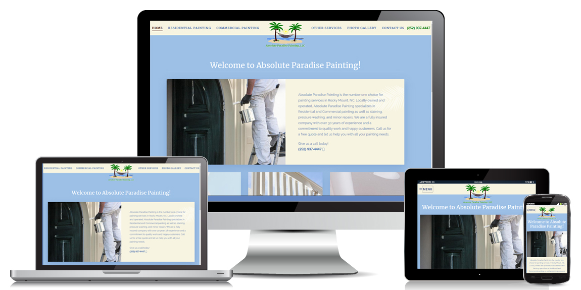 Contractor Website Design - Absolute Paradise Painting