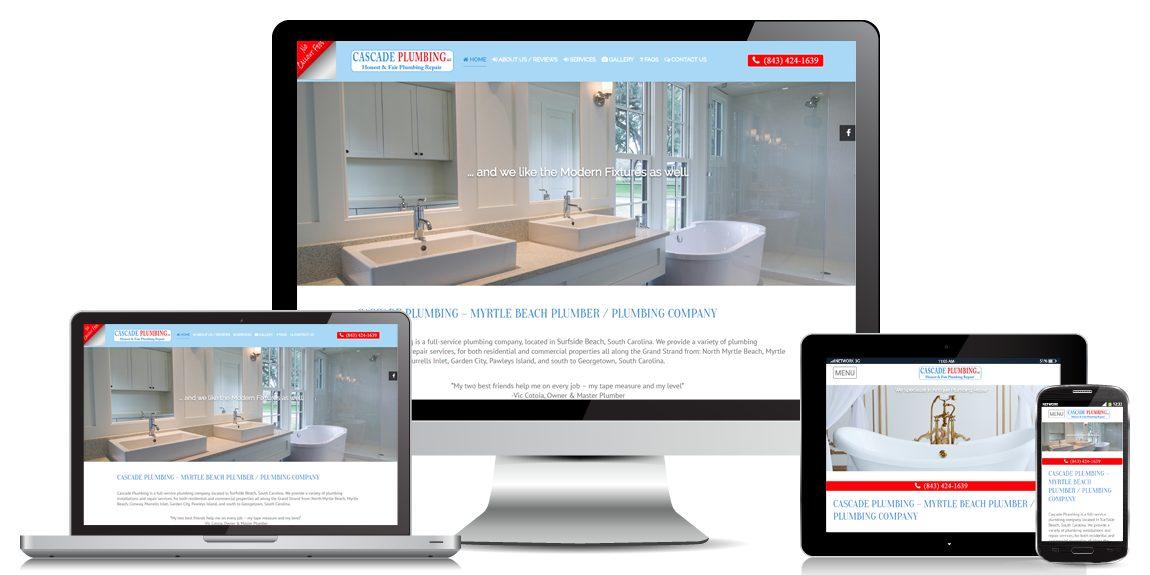 Contractor Website Design Cascade Plumbing