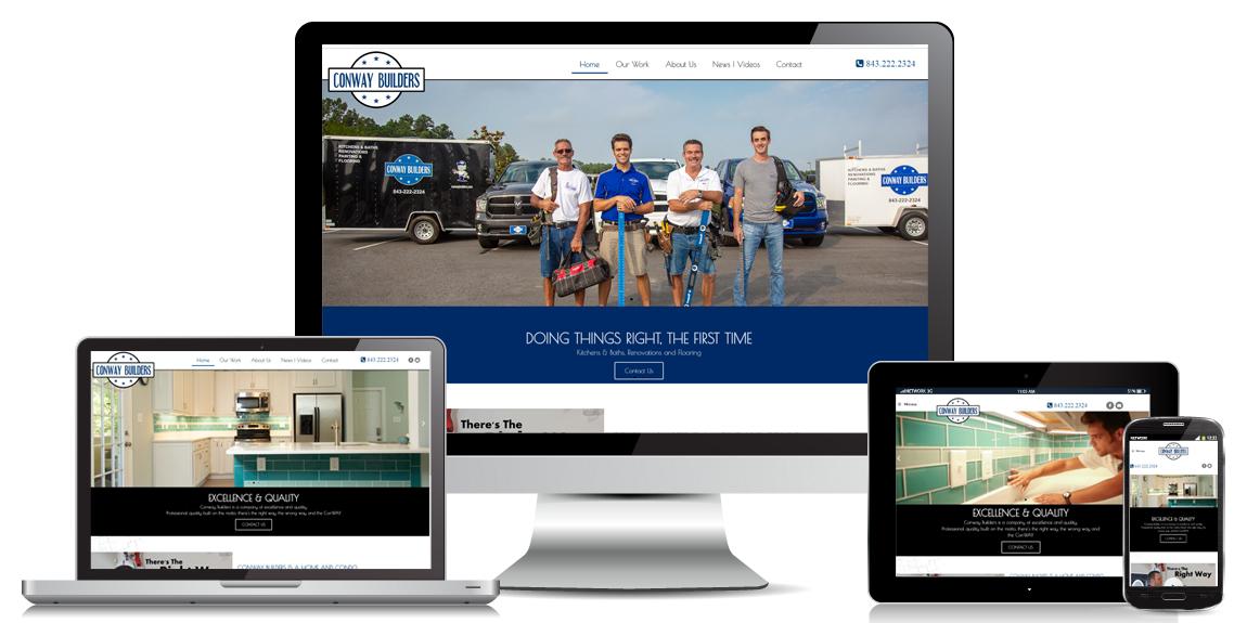 Contractor Website Design - Conway Builders