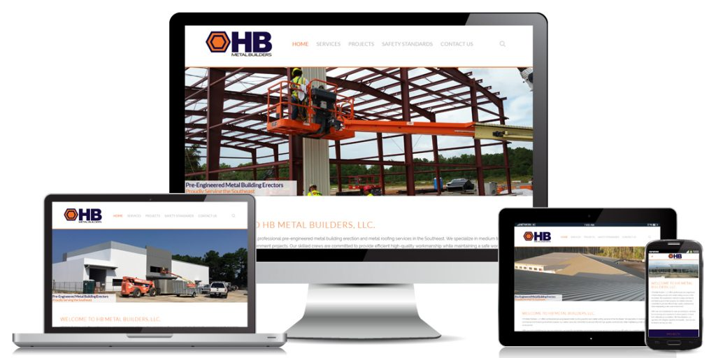 Contractor Website Design HB Metal Builders