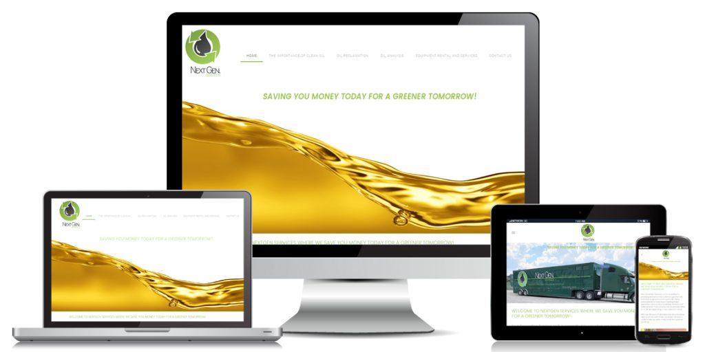 Contractor Website Design NextGen Fluids
