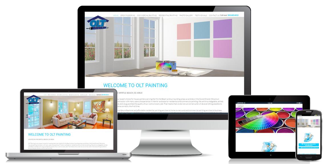 Contractor Website Design OLT Painting