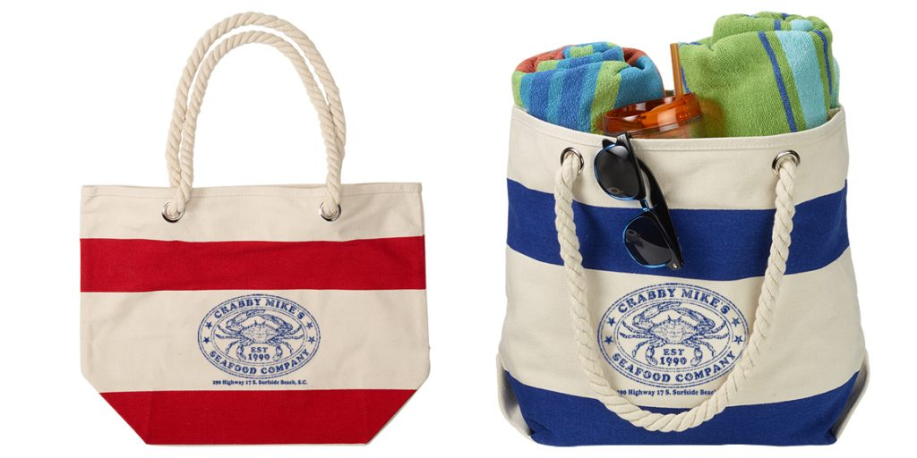 Custom Designed Boat Totes for Crabby Mike's for Crabby Mike's by Marketing Provisions