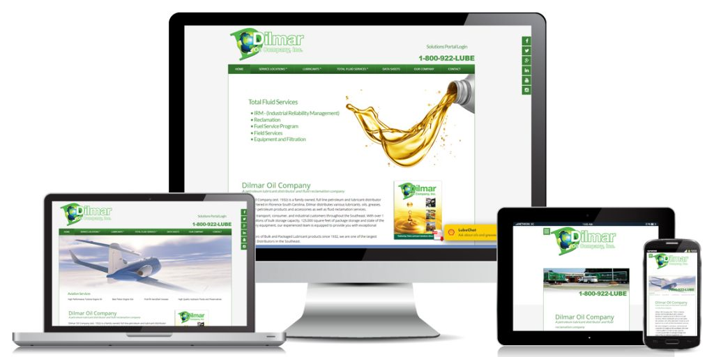 Dilmar Oil - Manufacturer Web Design