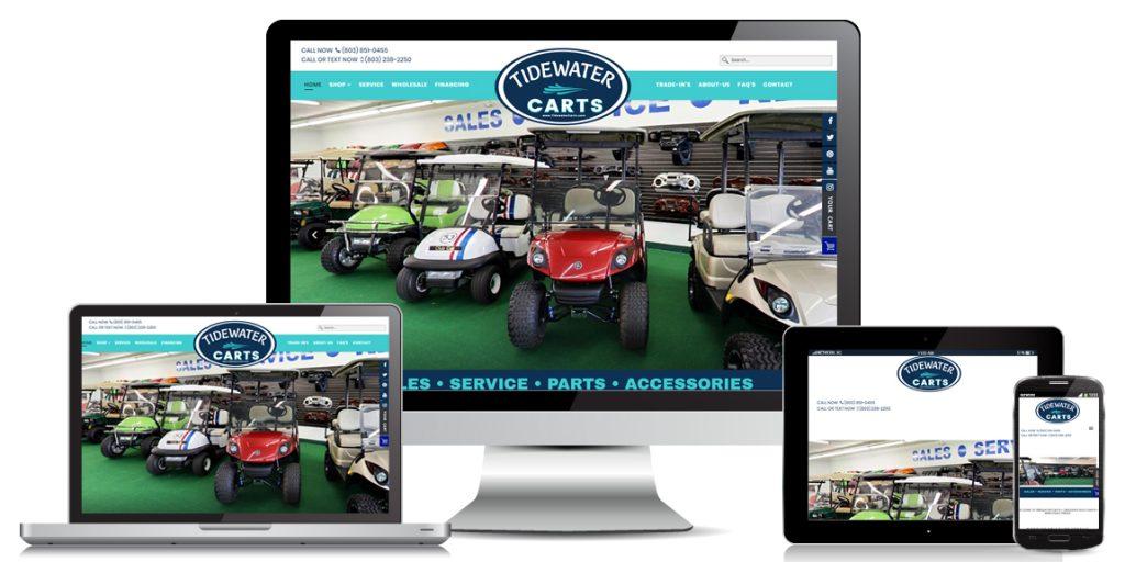 Ecommerce Golf Cart Website Design Tidewater Carts