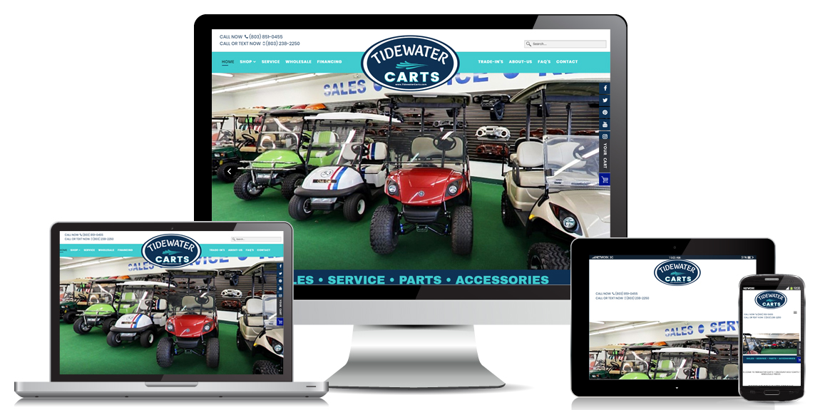 Ecommerce Golf Cart Website Design Tidewater Carts