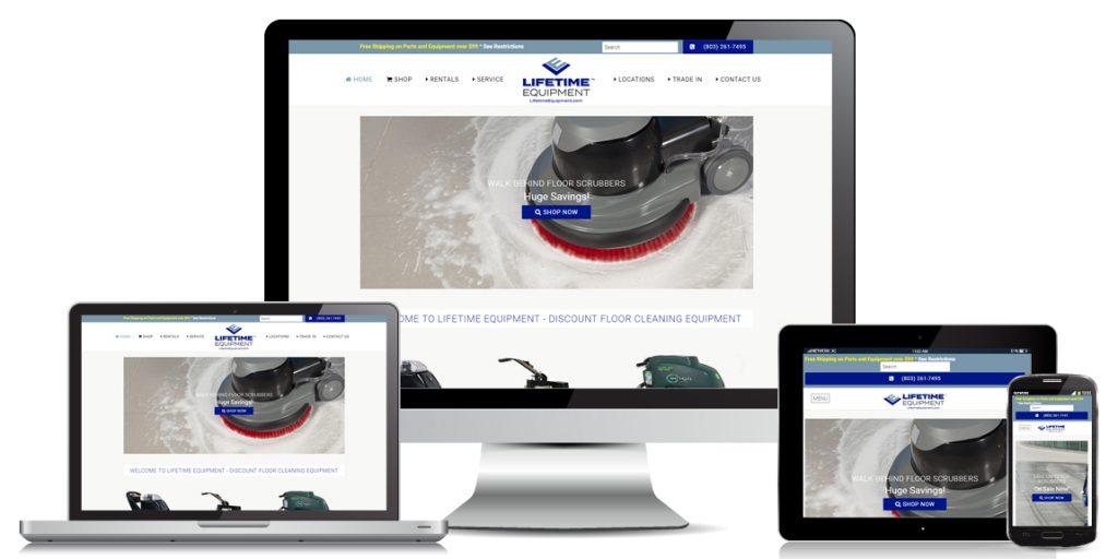 Ecommerce Website Design Lifetime Equipment