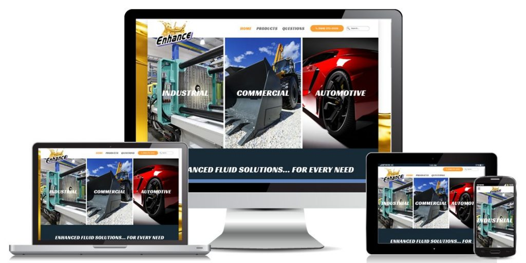 Enhance Oil - Manufacturer Web Design