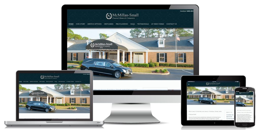 Funeral Home Website Design McMillan-Small