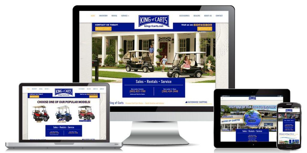 Golf Carts Website Design King-of-Carts