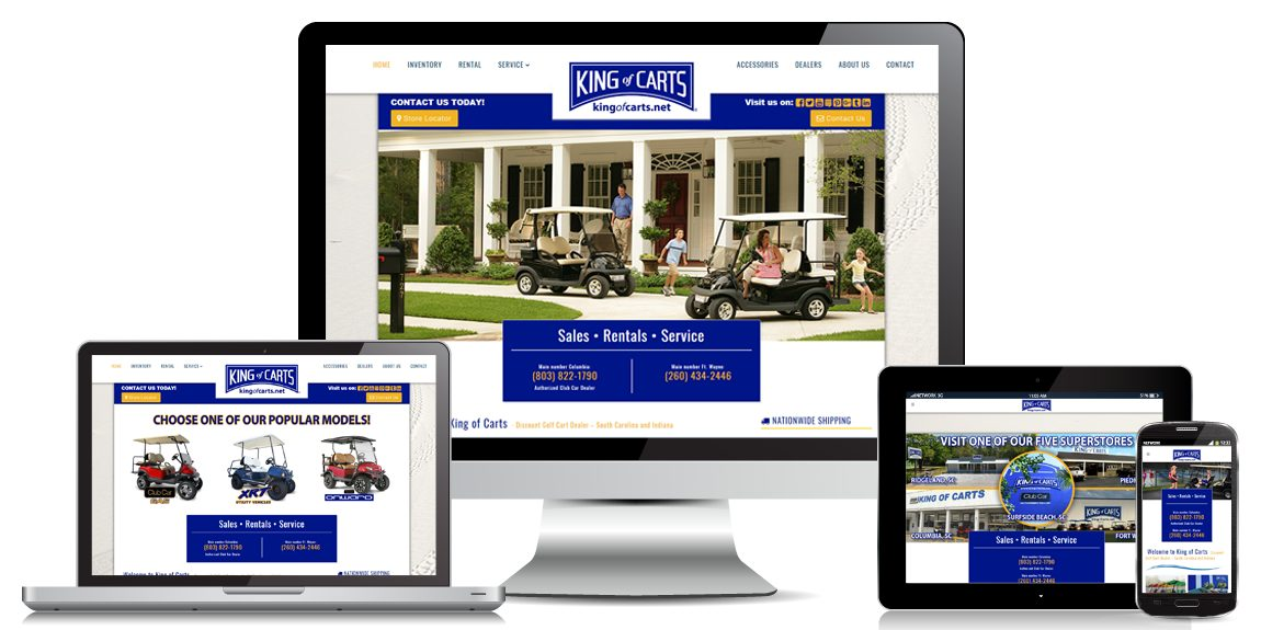 Golf Cart Website Design King-of-Carts
