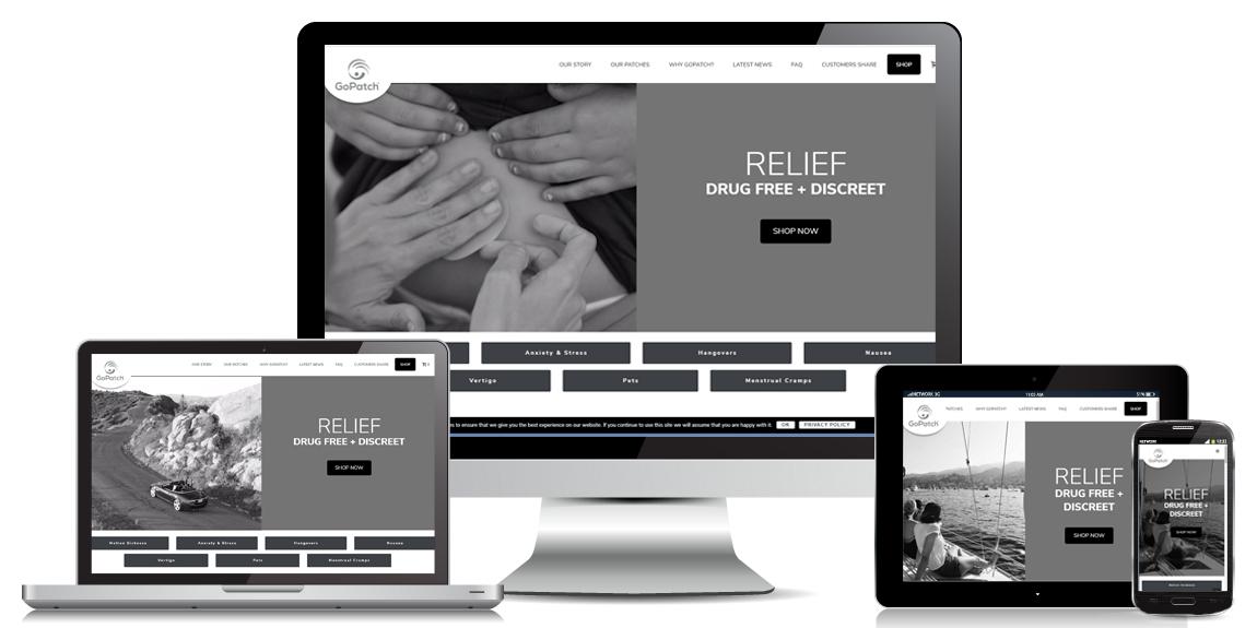 GoPatch – E-Commerce Web Design
