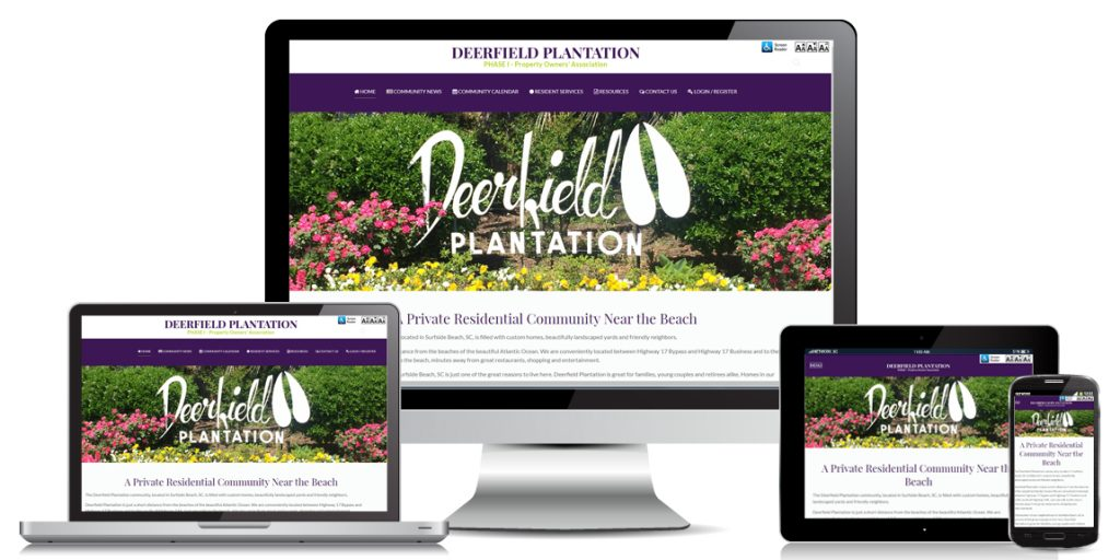 HOA Website Design Deerfield Plantation POA