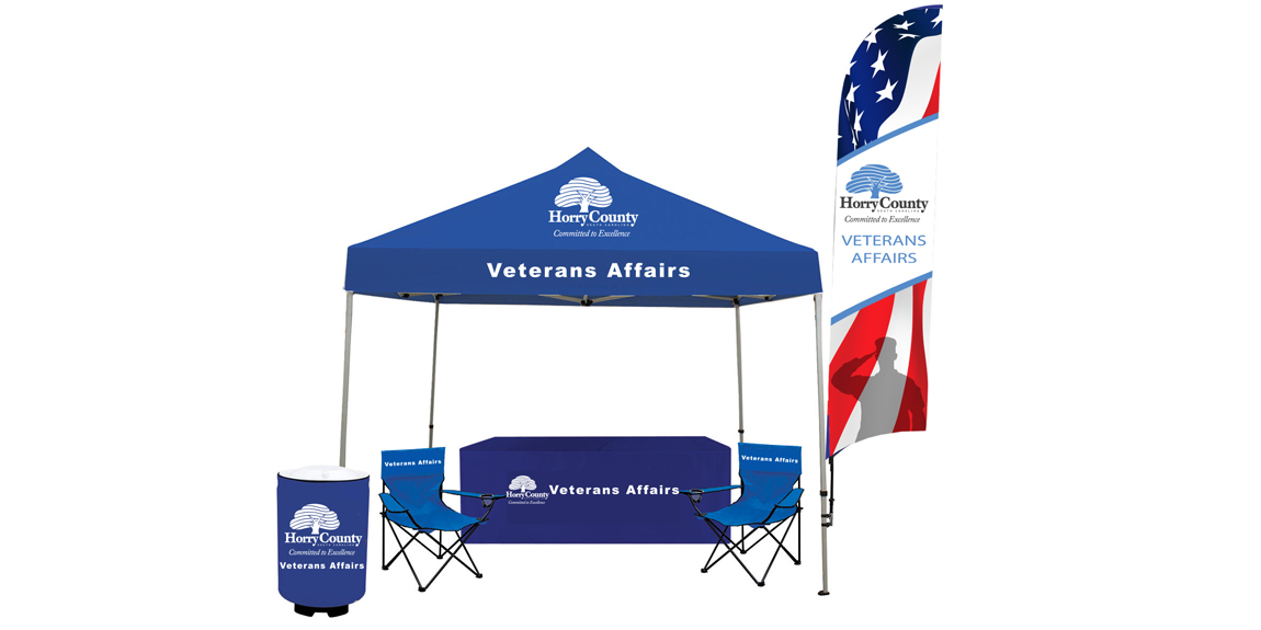 Horry County Veterans Affairs Tent Package designed by Marketing Provisions