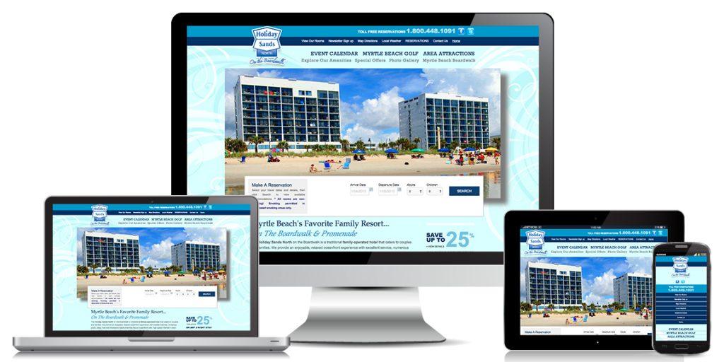 Hotel Resort Website Design Holiday Sands