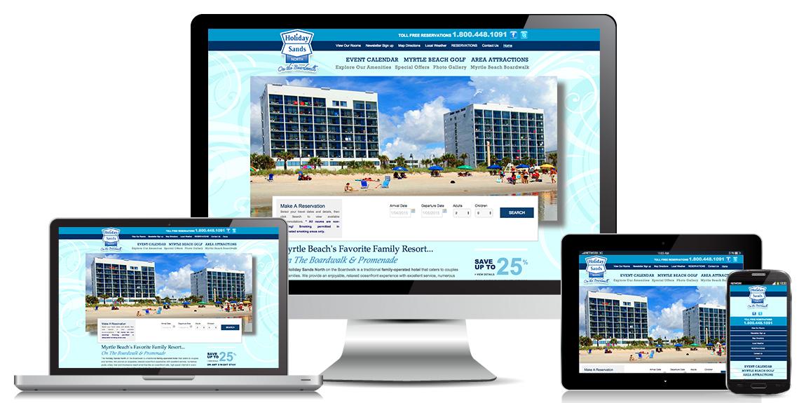 Resort-Hotel Website Design - Holiday Sands North