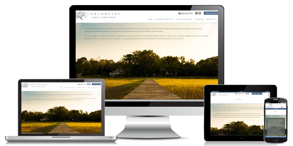 Lowcountry Family Dentistry - Health & Wellness Web Design