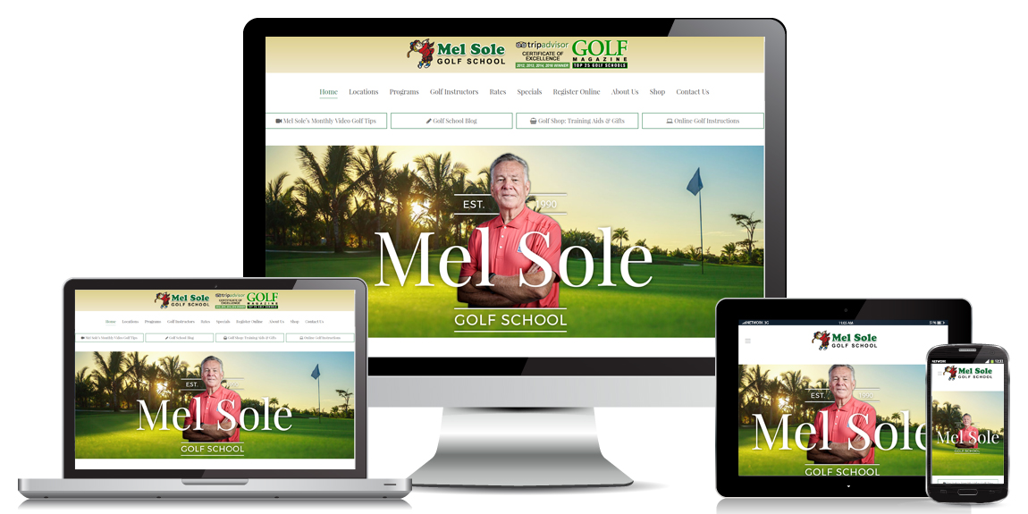 Leisure Ecommerce Website Design Mel Sole
