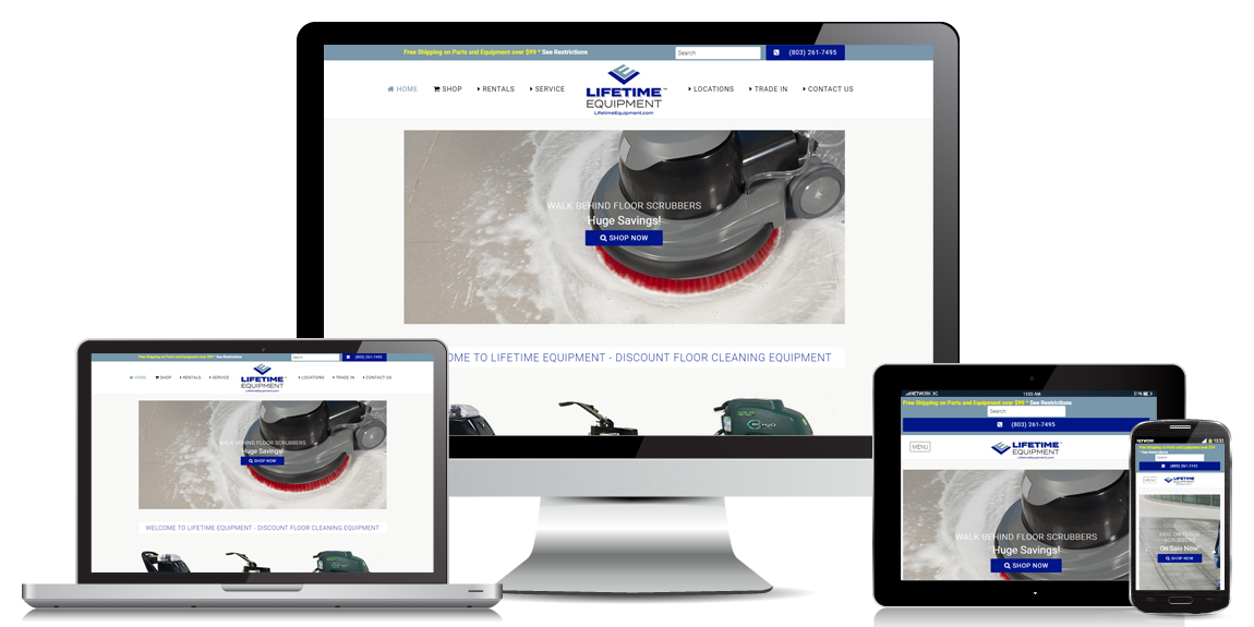 Lifetime Equipment – E-Commerce Web Design