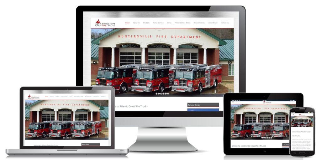 Manufacturer Website Design AC FireTrucks