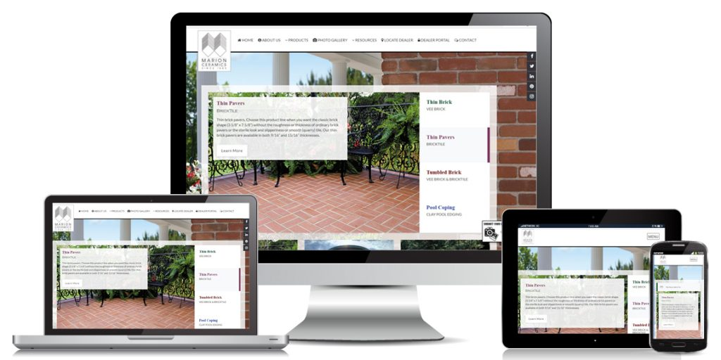 Marion Ceramics - Manufacturer Web Design