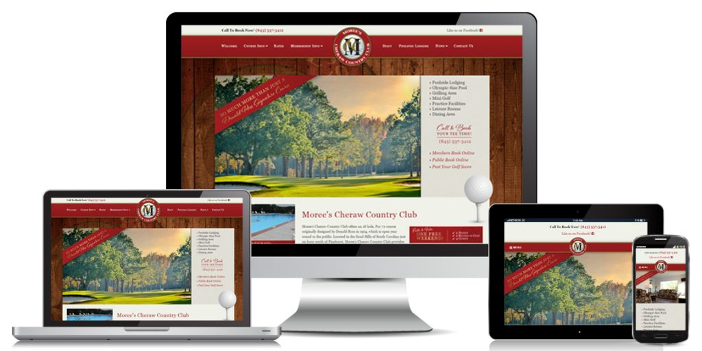 Moree's Cheraw Country Club - Leisure Web Design