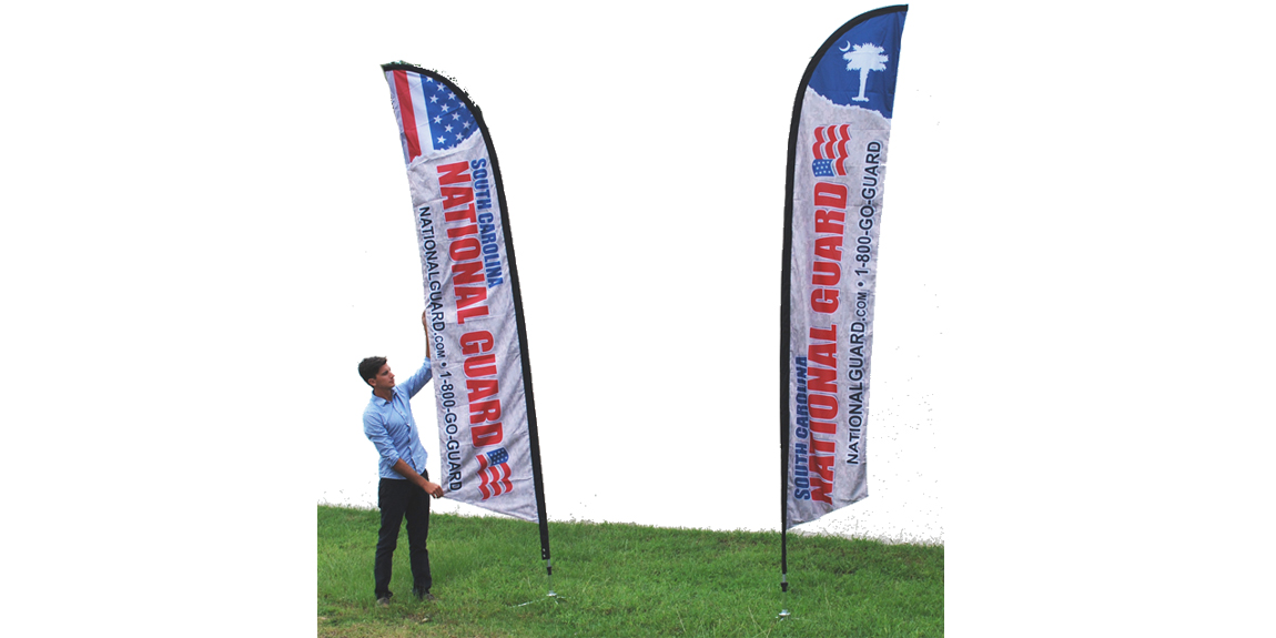 National Guard Feather Flags designed by Marketing Provisions