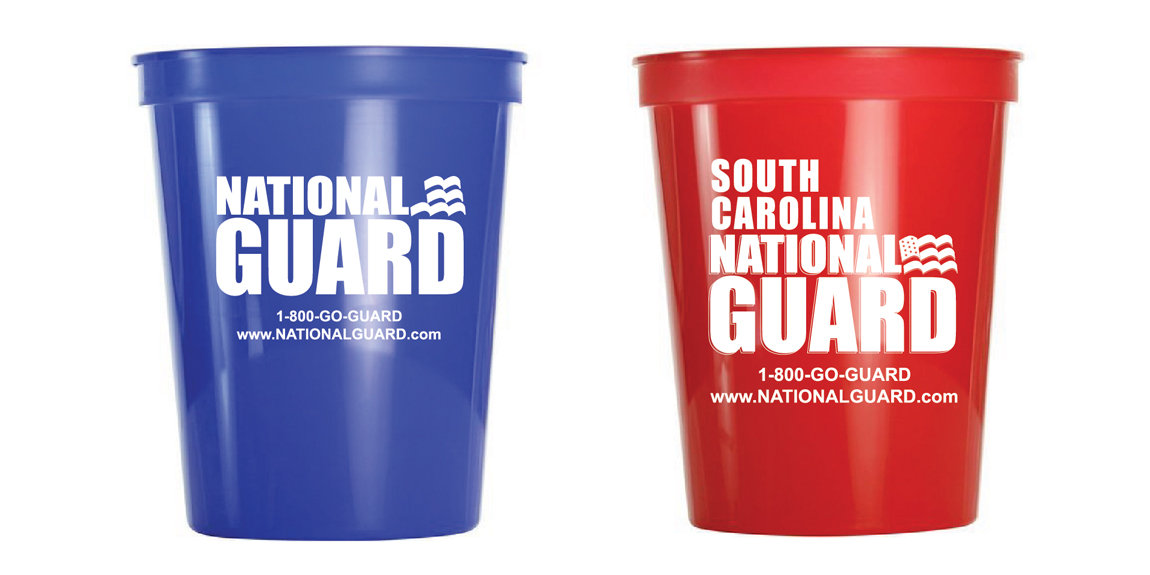 SC National Guard Stadium Cups designed by Marketing Provisions