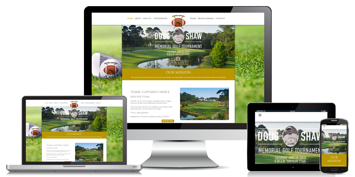 Non Profit Website Design - Doug Shaw Memorial Golf Tournament