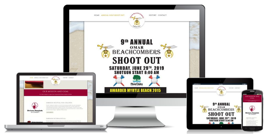 Non Profit Website Design - Omar Beachcombers Shrine Unit