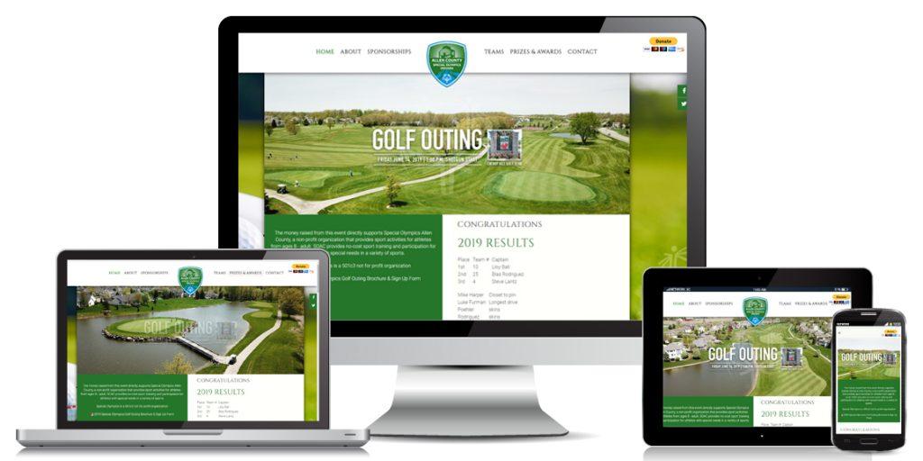 Non Profit Website design SOAC-Golf-Outing