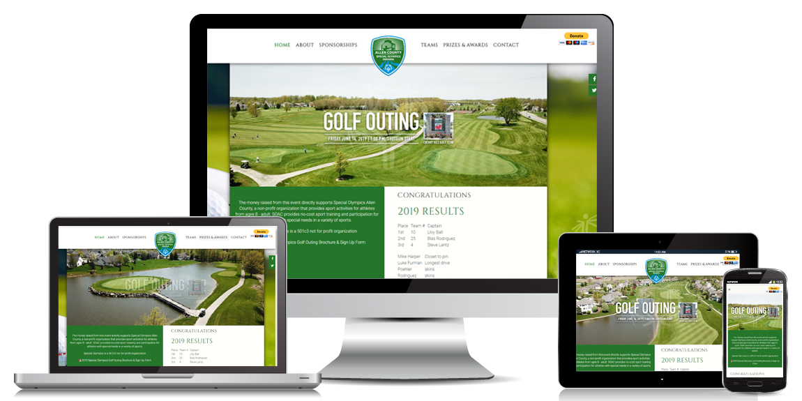 Non Profit Website Design - SOAC Golf Outing