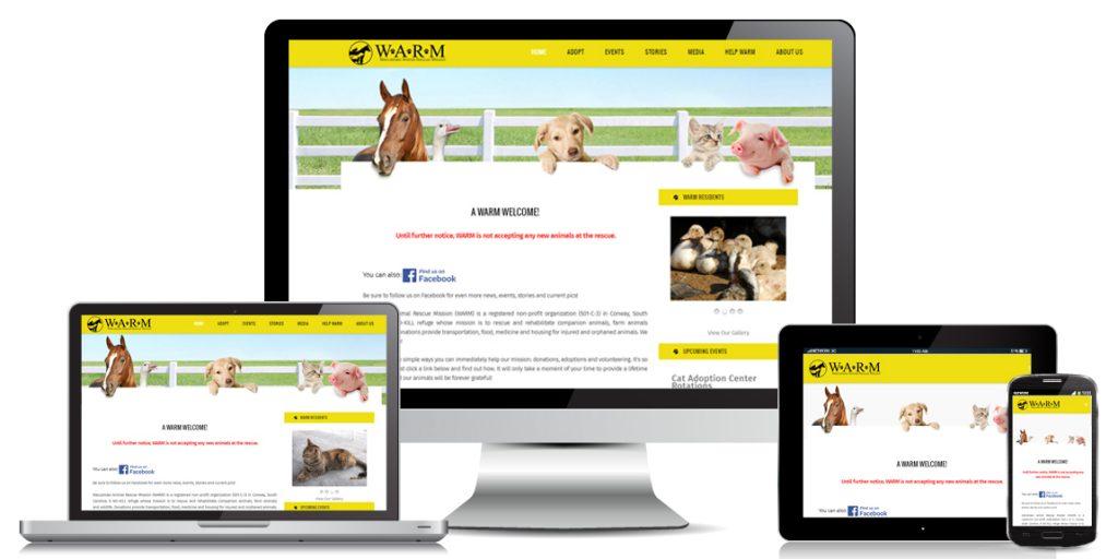 Non Profit Website Design WARM-Farms