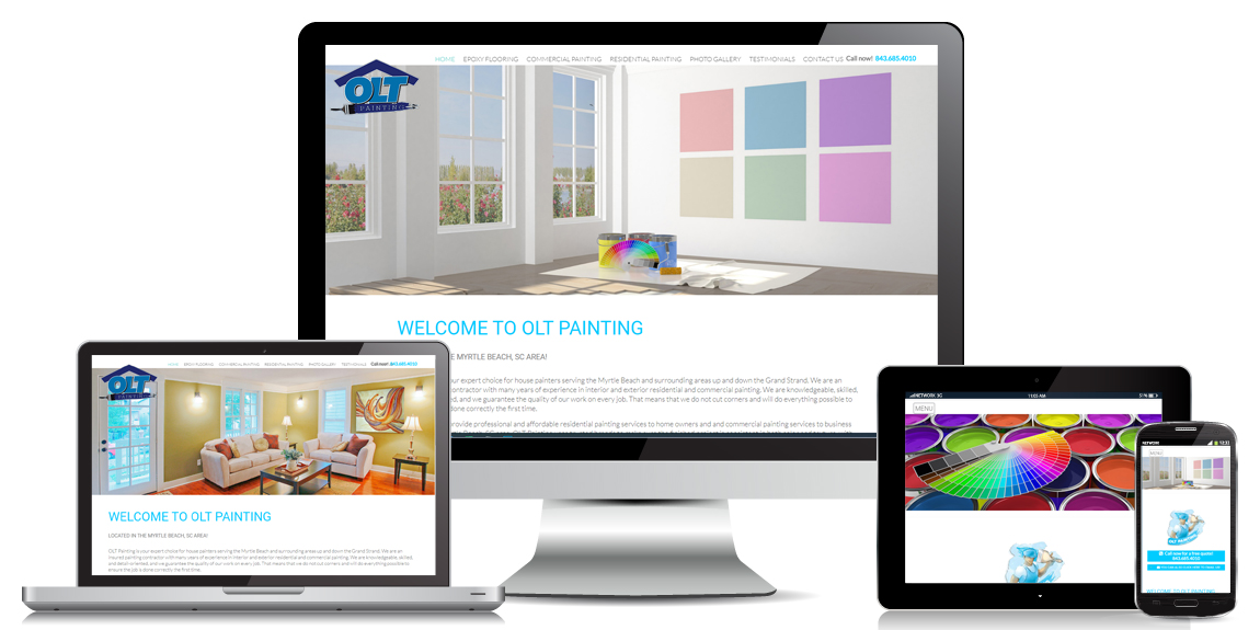 Painting Contractor Website Design by Marketing Provisions