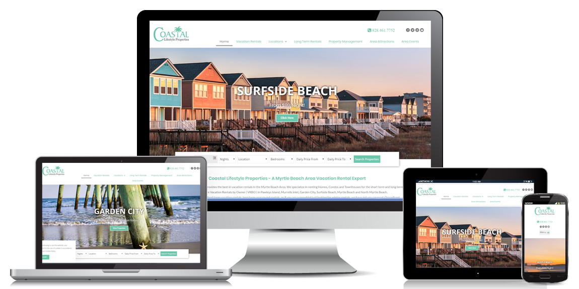 Property Management Website Design Coastal Lifestyle Properties
