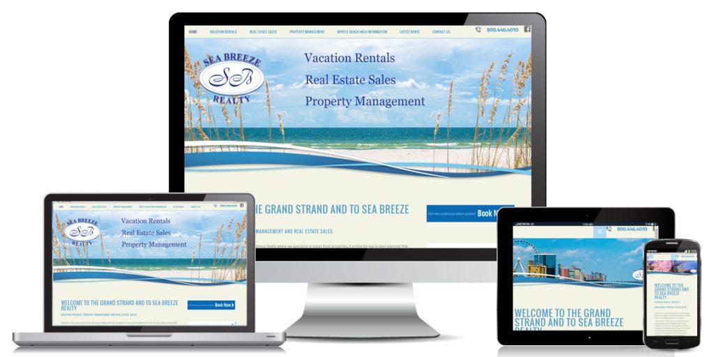 Property Management Website Design Sea Breeze Realty